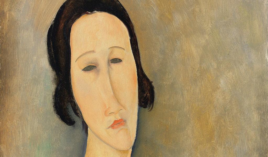 "Amedeo Modigliani 's ""Madame Hanka Zborowska"" (1917), estimated at £5-7m, sold for £8,258,500. (Christie's Images LTD. 2016)"