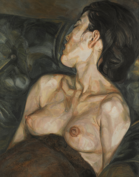"""Lucian Freud's """"Pregnant Girl,"""" 1960, which sold at Sotheby's London for $23,214,243."""