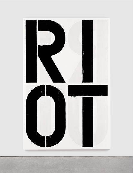 """Christopher Wool's """"Untitled (Riot),"""" 1990, sold for $29,930,000 at Sotheby's Contemporary Evening Sale on Tuesday."""