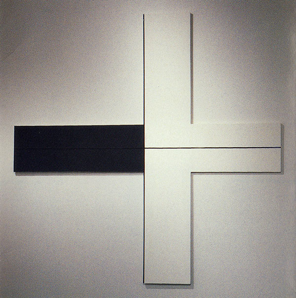 Plexus, acrylic on canvas, 108.5 x 108.5 inches, 1997
