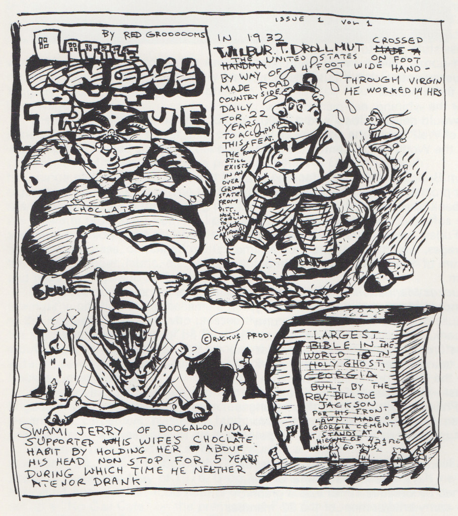 Excerpts from the Daily Ruckus (Nov 1975), © 1975 Red Grooms and Creative Time, Inc