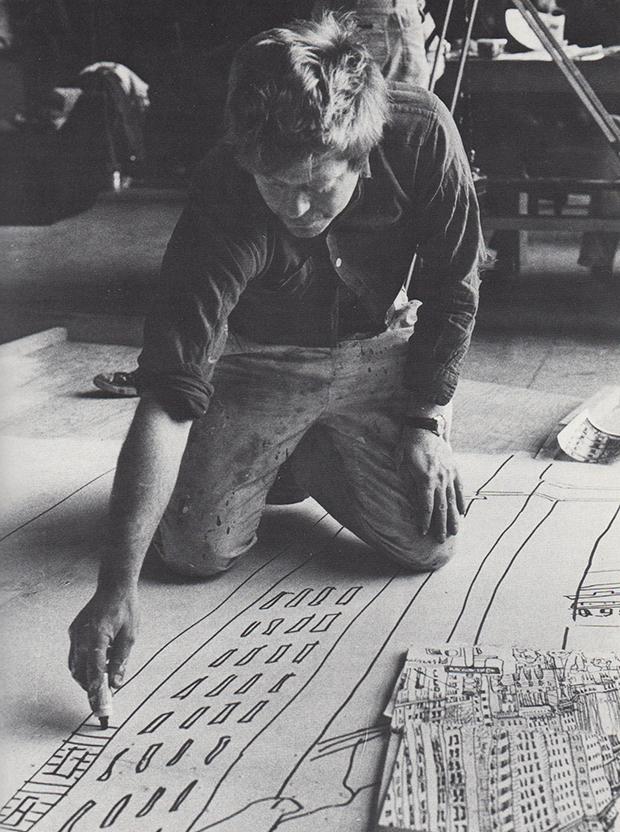 Grooms in his studio 1975