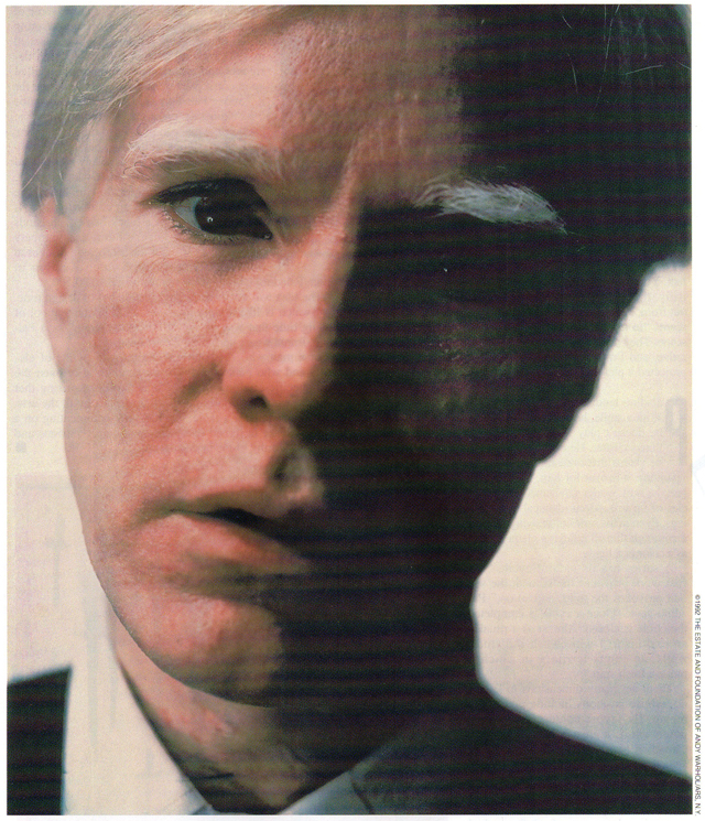 A 1979 Polaroid self-portrait by Andy Warhol. A year after his death at age 58 in 1987, his belongings sold for $23 million at auction, benefiting the foundation he set up in his will.