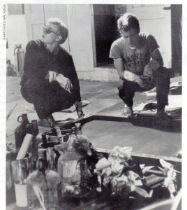 Warhol and Malanga at the Factory, Warhol's New York studio, ca. 1964