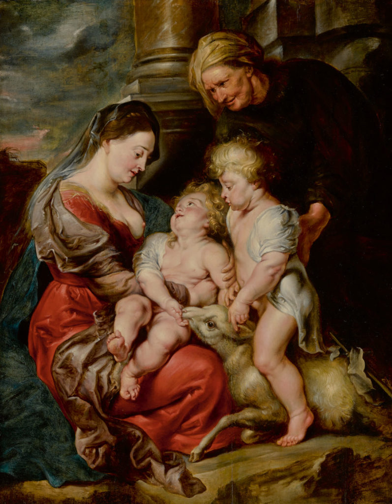 Peter Paul Rubens, The Virgin and Christ Child, With Saints Elizabeth and John the Baptist.