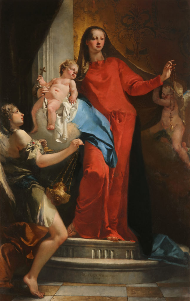 Giovanni Battista Tiepolo, Madonna of the Rosary With Angels.