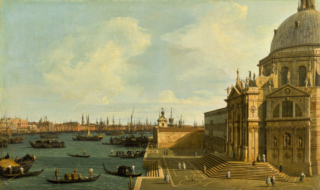 Canaletto's A View of the Grand Canal Looking East With Santa Maria della Salute.
