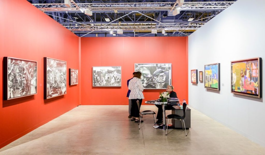 D.C. Moore Gallery's Romare Bearden display at Art Basel in Miami Beach (© Art Basel)