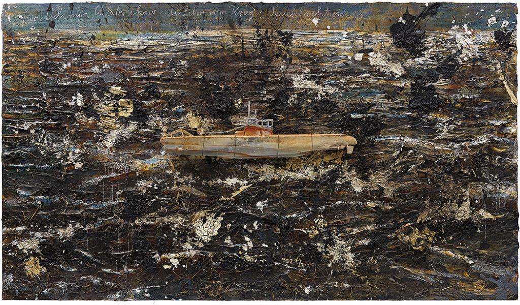 """Anselm Kiefer's """"Für Velimir Khlebnikov: Die Lehre vom Krieg: Seeschlachten"""" (2004-2010), estimated at £400,000 to £600,000, sold for £2,389,000. (Courtesy of Phillips / Phillips.com)"""