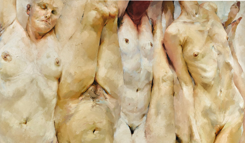 "Jenny Saville's ""SHIFT"" (1996-97), estimated at £1,500,000-2,000,000, sold for £6,813,000. (Sotheby's )"