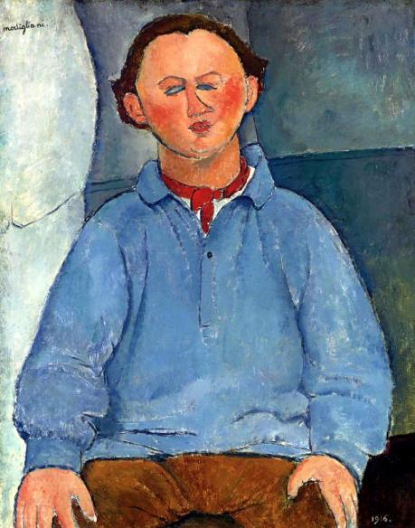 Amedeo Modgliani, Portrait of the Sculptor Oscar Miestchaninoff, 1916