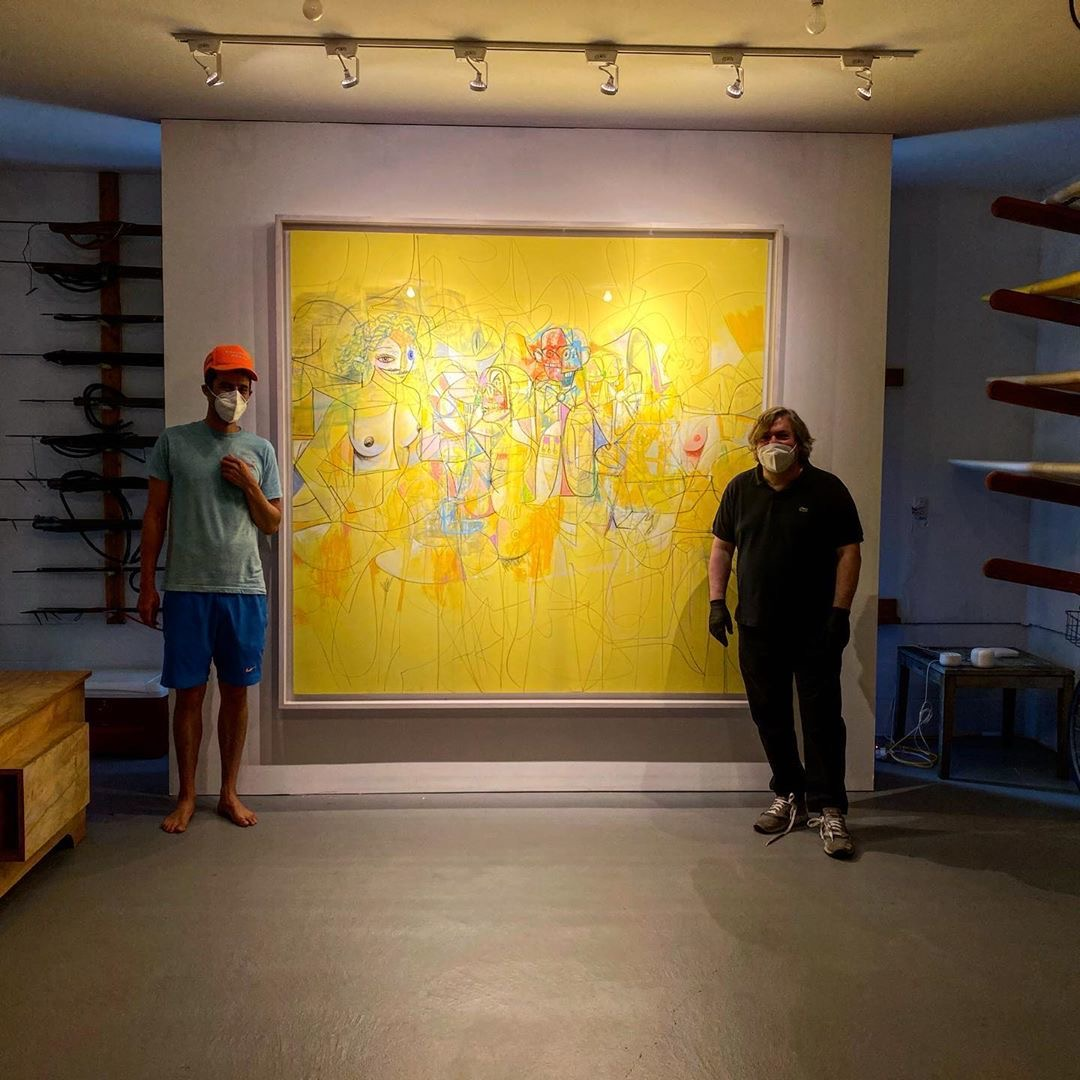 Condo's visit to Gouzer's 'viewing room,' formerly the dealer's Montauk garage