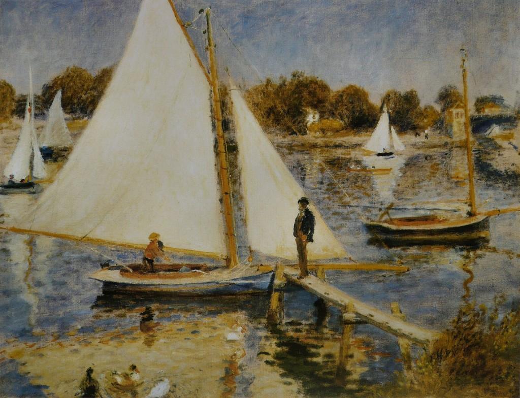 """Pierre-Auguste Renoir, """"La Seine à Argenteuil"""", 1874"""
