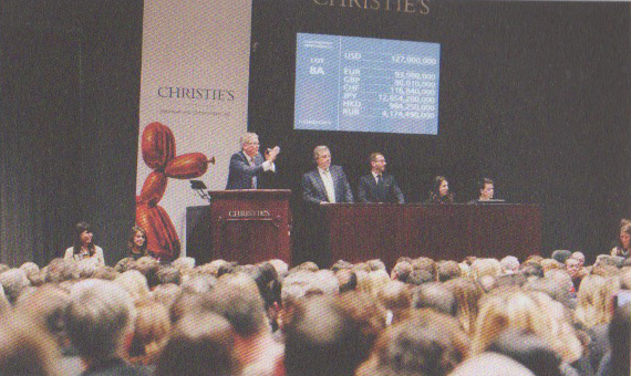 The record hammer price of $127 million ($142.4 million with buyer's premium) is achieved fora painting on 12 November 2013