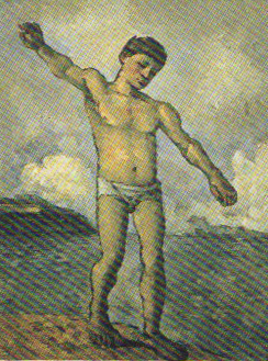 """Paul Cézanne, """"Bather with Outstretched Arm,"""" 1877-78"""