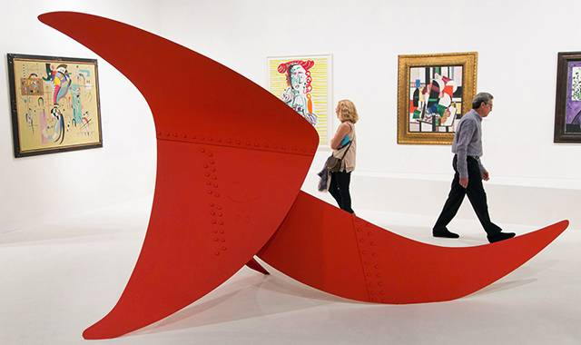 """Alexander Calder's """"Brontosaurus"""" (1970), priced at $12 million, had a reserve placed on it."""