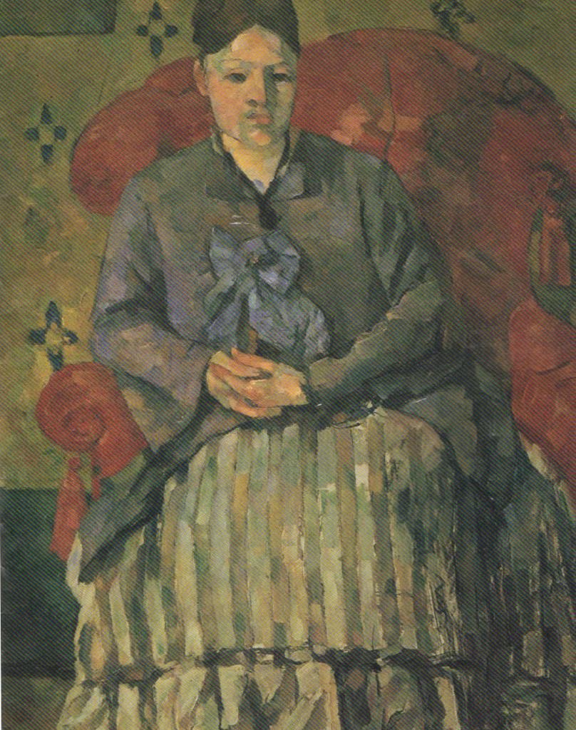 "Paul Cézanne, ""Madame Cézanne in a Red Armchair"", 1877"