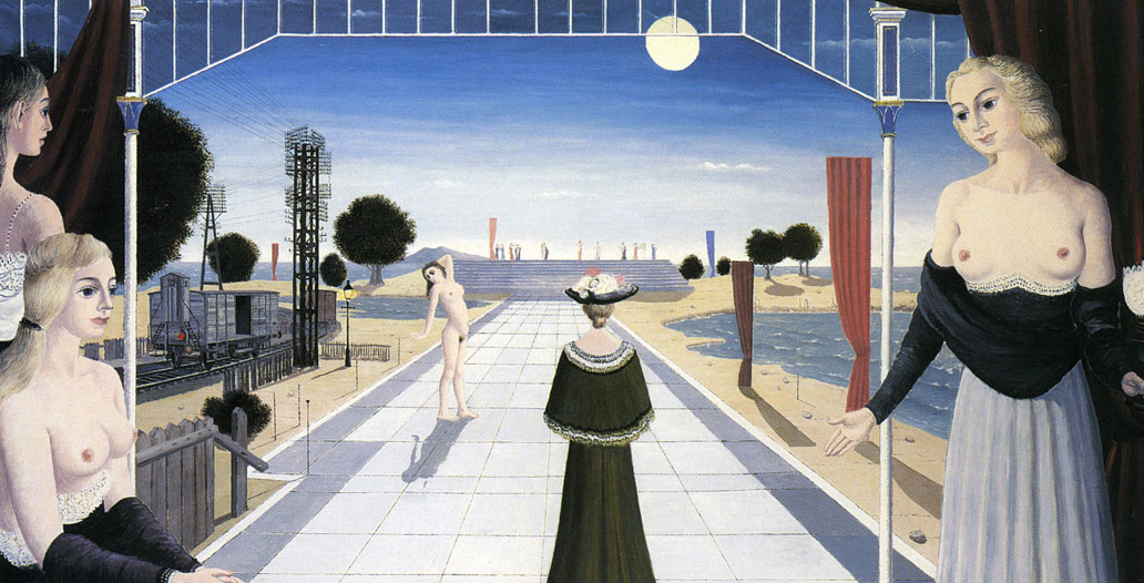 """Paul Delvaux's """"La grand Allée,"""" 1964, which sold for over €2 million at the booth of Salzburg's Thomas Salis Art & Design at TEFAF 2016. (Thoams Salis Art & Design)"""