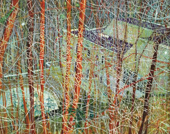 """Peter Doig 's """"The Architect's Home in the Ravine"""" 1991, which sold for $16,370,908."""