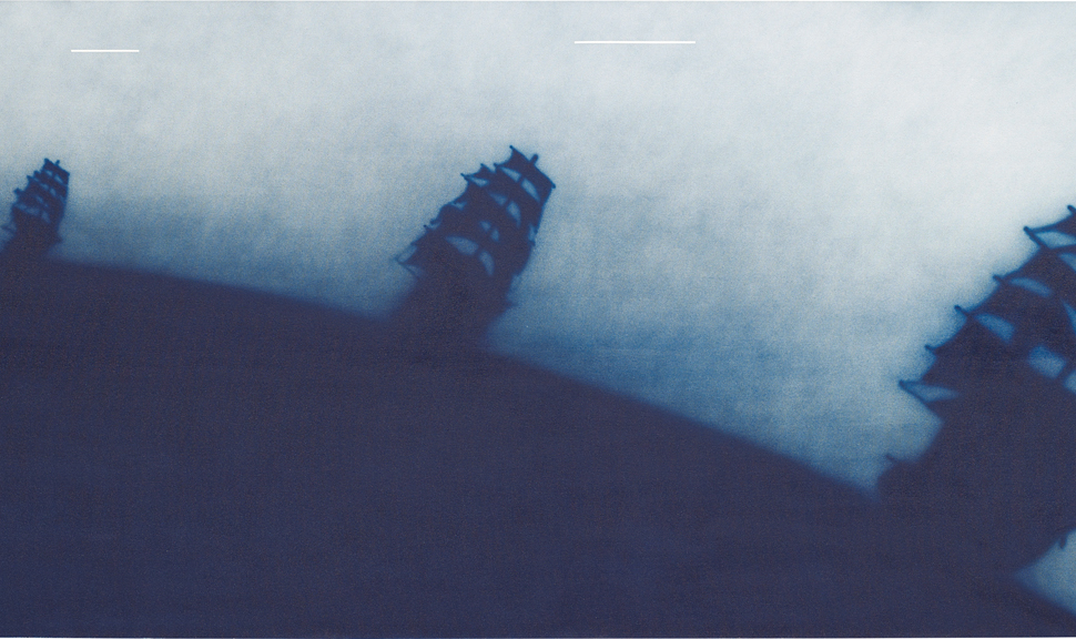 """Ed Ruscha's """"Ship Talk"""" 1988, which sold for £884,500."""