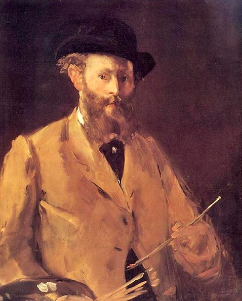 """Edouard Manet, """"Self Portrait with a Palettte"""", 1879"""