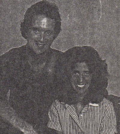 """Doonesbury"" creator Garry Trudeau with composer for the musical, Elizabeth Swados."