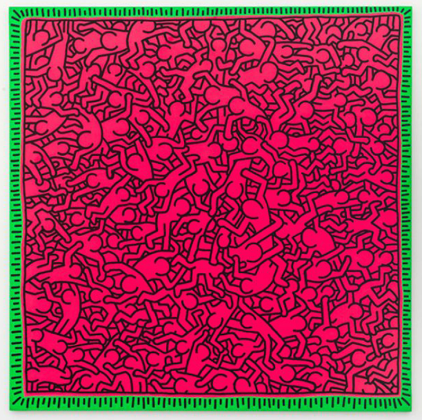 """Keith Haring's """"Untitled (June 1, 1984)"""" (© Keith Haring Foundation/Courtesy Skarstedt New York/London)"""