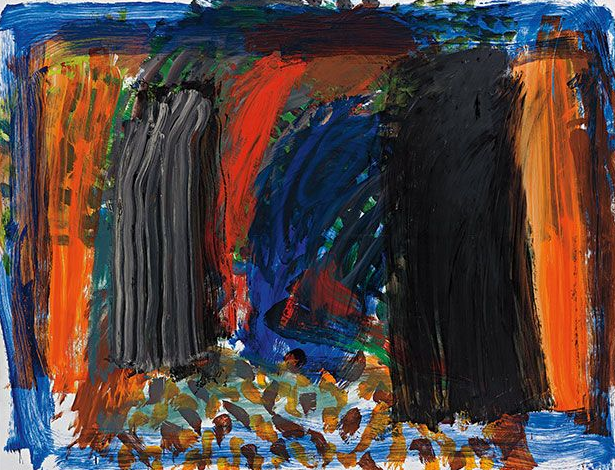 Howard Hodgkin, Rhode Island, 2000-2002, Oil on panel, 203 x 267 cm, £600,000-800,000
