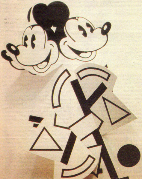 "Alexander Kosolapov's ""Mickey-Lissitzky"", 1986, from The Art of Mickey Mouse"