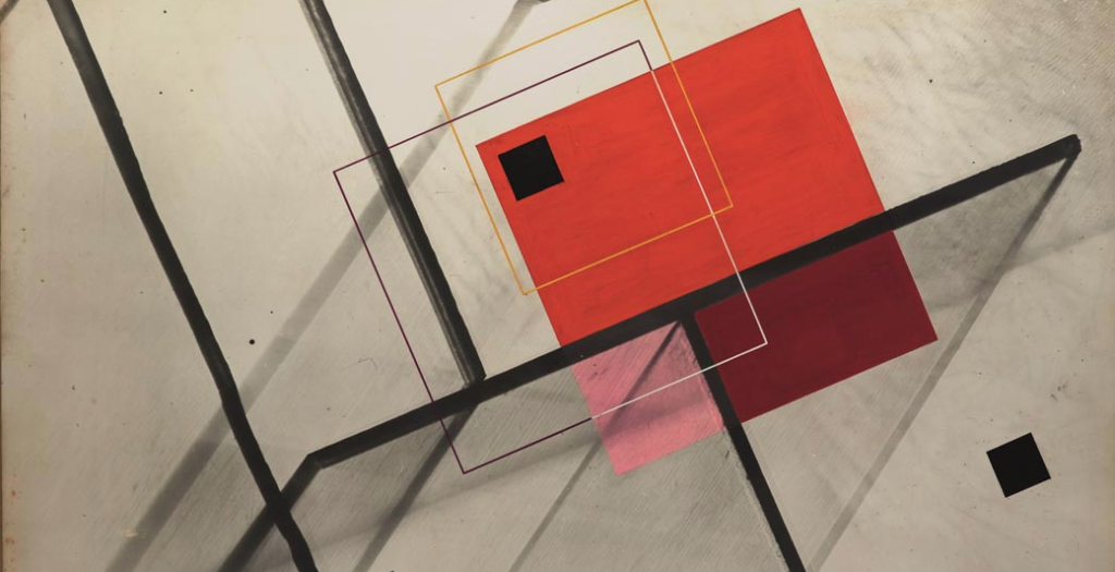 """Luigi Veronesi's """"Composizione n. 53 (Composition n. 53),"""" 1938, currently on view at Sperone Westwater in New York"""