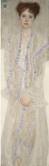 "Gustav Klimt's ""Bildnis Gertrud Loew (Gertha Felsőványi) (Portrait of Gertrud Loew - Gertha Felsőványi),"" 1902. (Sotheby's)"