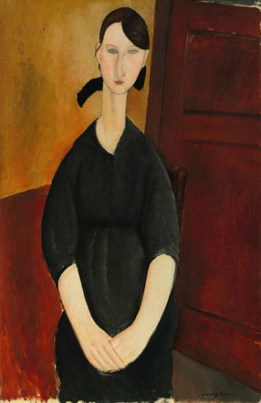 "Amedeo Modigliani's ""Portrait de Paulette Jourdain,"" c. 1919, which sold at Sotheby's for $42.8 million."