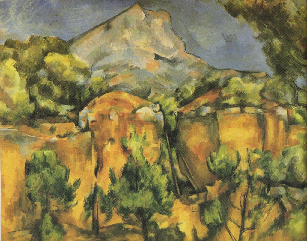 """Paul Cézanne, """"Mont Sainte-Victoire Seen from Bibemus,"""" 1897"""