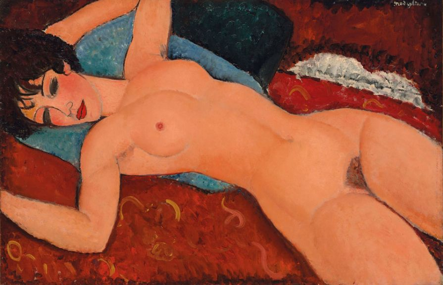 "Amedeo Modigliani's ""Nu couché"" 1917-18, which sold for $170.4 million. (CHRISTIE'S IMAGES LTD. 2015)"