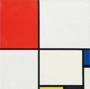 """Piet Mondrian's """"Composition No. III (Composition with Red, Blue, Yellow and Black),"""" 1929 sold for $50.56 million."""