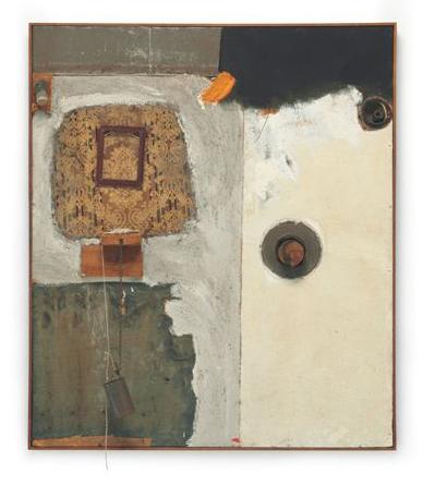 "Robert Rauschenberg's ""Johansons Painting,"" 1961, estimated at $4-6 million."