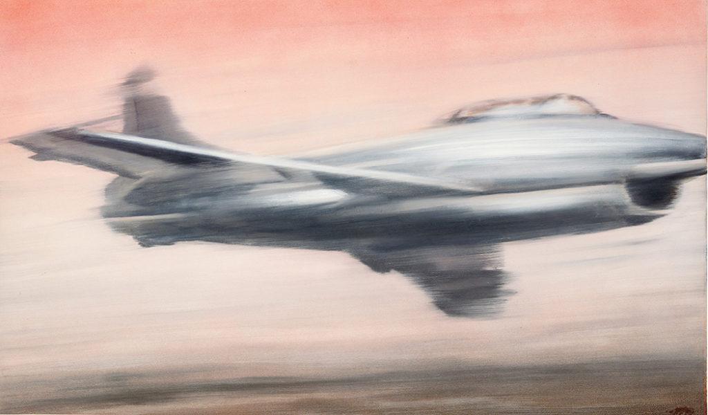 """Gerhard Richter's """"Düsenjäger (Bomber)"""" from 1961 sold for $25,565,000. (Phillips)"""