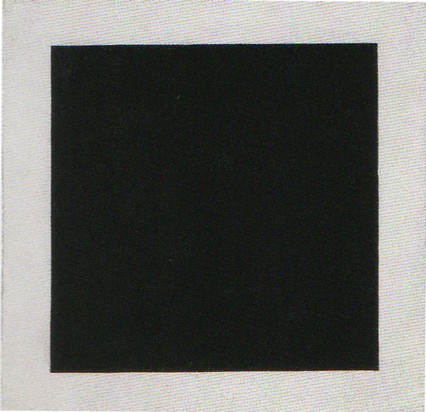 Kazimir Malevich, Black Square, c. 1923, oil on canvas, 41 x 41 (106 x 106 cm), Russia State Museum, St. Petersburg, Russia