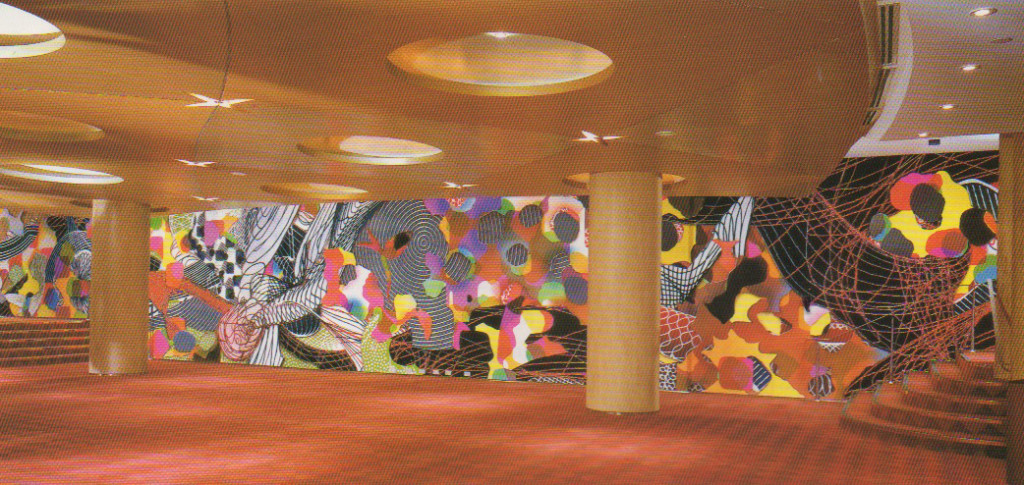 Stella's coloulul murals in the newly built Princess of Wales Theatre, Toronto