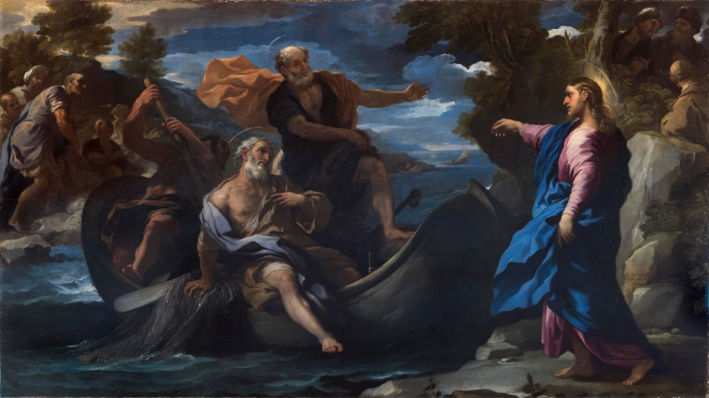 """Luca Giordano's """"The Calling of Saints Peter and Andrew,"""" 1690, sold at the Colnaghi Gallery booth at TEFAF 2016 to a European collector in the region of its €2 million asking price. (Courtesy Colnaghi Gallery )"""