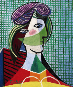 "Pablo Picasso's ""Tête de femme"" which sold for $27.1 million."