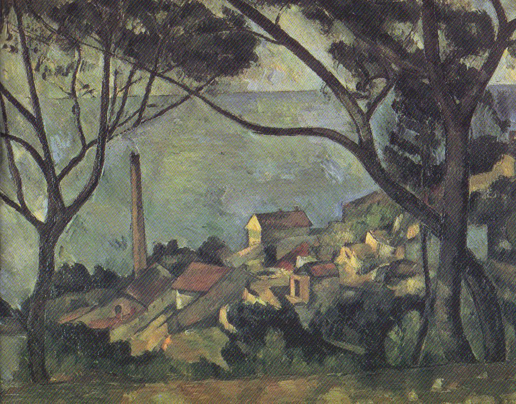 "Paul Cézanne, ""The Sea at L'Estaque Seen through the Trees,"" 1878-79"