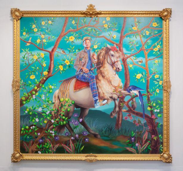 "Kehinde Wiley's ""Equestrian Portrait of Philip III"" 2016. (© Kehinde Wiley/ Photo by Sebastiano Pellion di Persano/Courtesy Sean Kelly, New York)"